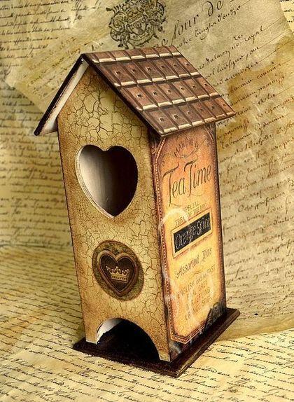 """Домик для чайных пакетиков """"Tea Time"""" - Декупаж,чайный домик,шоколад,чай"""