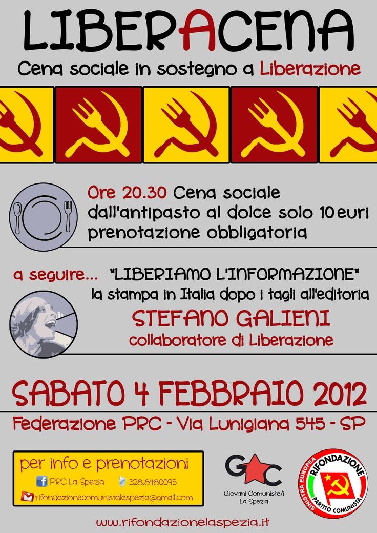 Cena sostegno Liberazione  04.02.2012