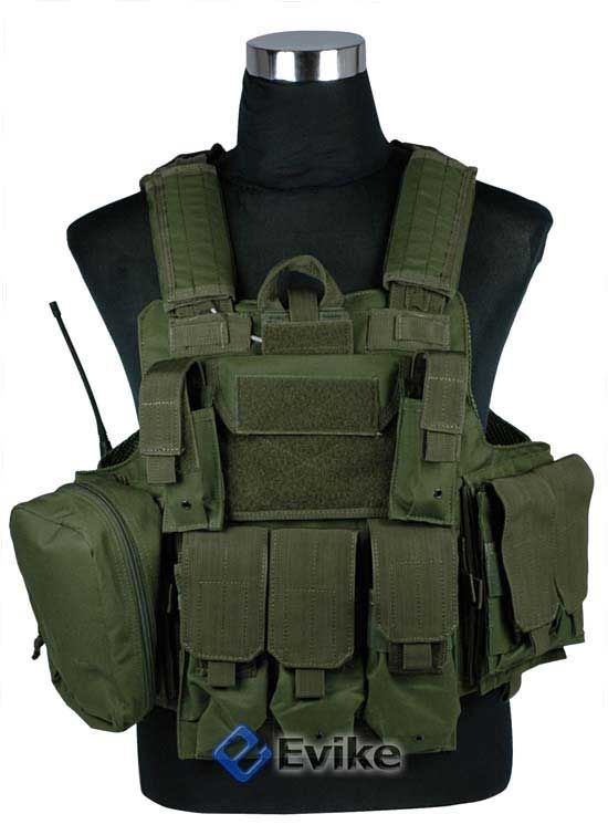 Evike.com Airsoft Guns - Tac. Gear/Apparel | Evike.com Airsoft Guns - Vests & Body Armor | Evike.com Airsoft Guns - USMC C.I.R.A.S. Type Force Recon Tactical Vest (w/ Full Pouch System) -OD Green |
