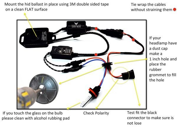 Hid Kit Installation Instructions With Image Guide Installation Instructions Installation Installation Manual