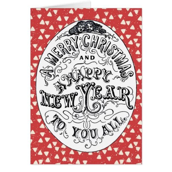 Merry Christmas Happy New Year Greeting Card Xmas #cards #christmascard #holiday