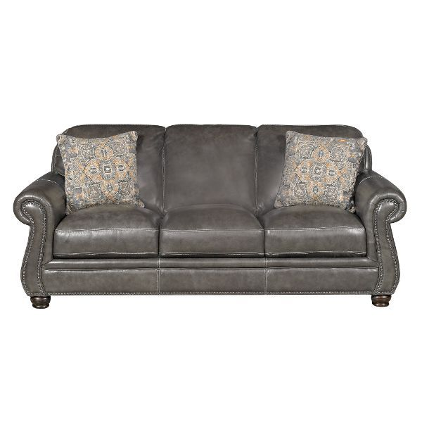 """1000 Ideas About Charcoal Couch On Pinterest: London 87"""" Charcoal Leather Sofa"""