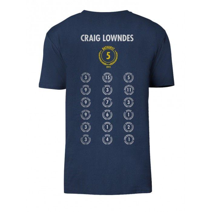 RBRA Bathurst 2015 Craig Lowndes 100/5 Navy Tee - Men