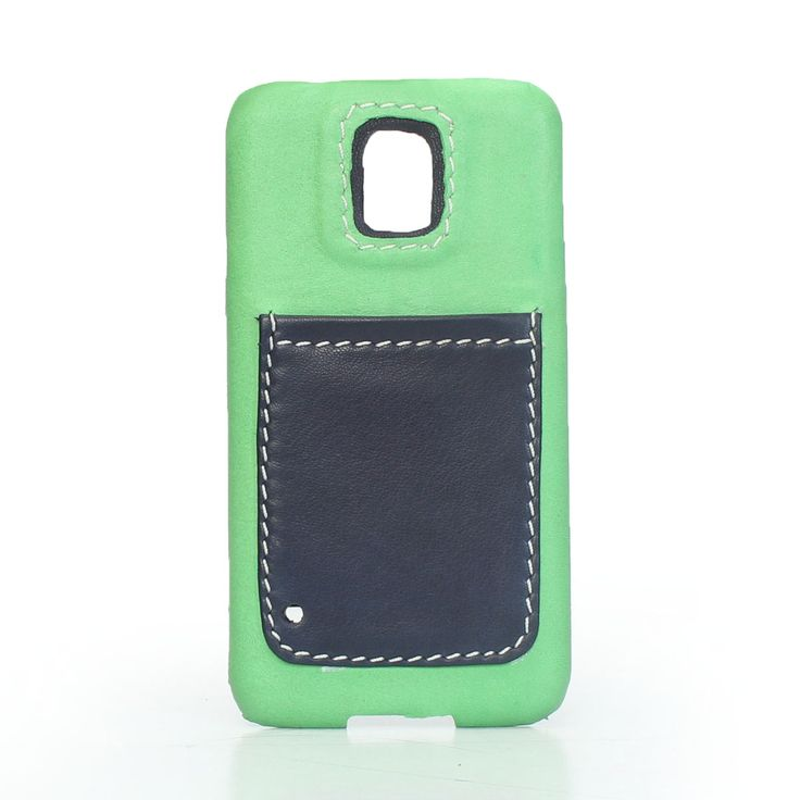 #Green Leather #Mobile #Cover with pocket Online at Best Price  Rs.1,499/-