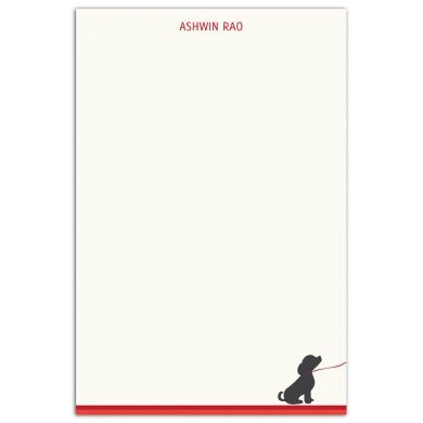 A #puppy on a leash looking longingly is all that it takes to set the mood for these #notecards for all the #doglovers out there.