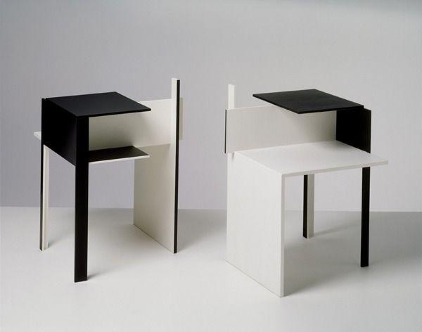 SCANDINAVIAN COLLECTORS - De Stijl side tables by Eileen Gray, 1922....