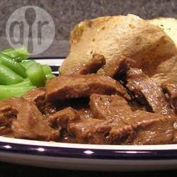 Photo de recette : Bifteck de ronde en sauce