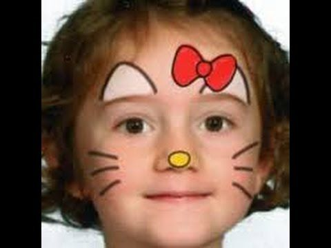 PINTA CARITAS DE HELLO KITTY 16 iDEAS FACILES PARA TU FIESTA - YouTube