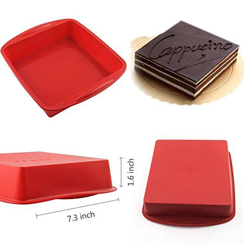 AYAMAYA 73 Square Cake Pan 100 Food Grade Silicone Bread Cake Mold NonStick Baking Pan Dishwasher Safe 7316 *** Visit the image link more details. Note:It is affiliate link to Amazon. #hot
