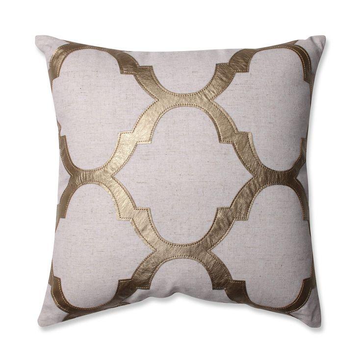 Glitz Gold 16.5 Inch Throw Pillow Pillow Perfect Accent Pillows Throw Pillows Bedding