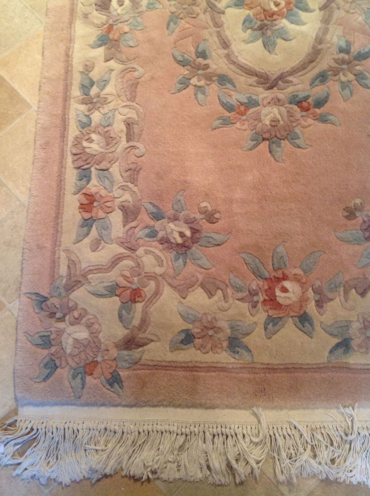 REDUCED! Wool Aubusson Chinese Rug Carpet With Pink Background 152 X 91 Cms | eBay