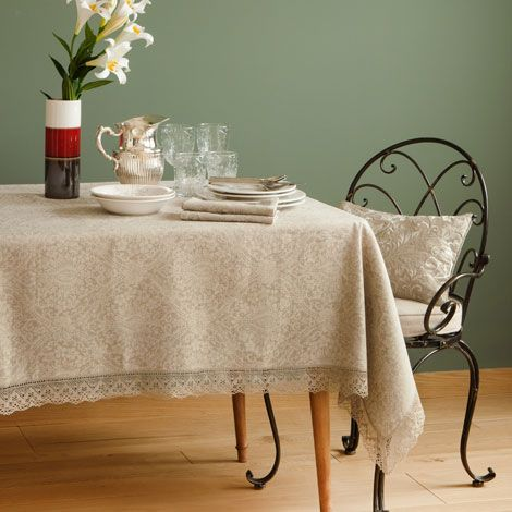 jacquard linen and lace tablecloth linens and lace lace. Black Bedroom Furniture Sets. Home Design Ideas