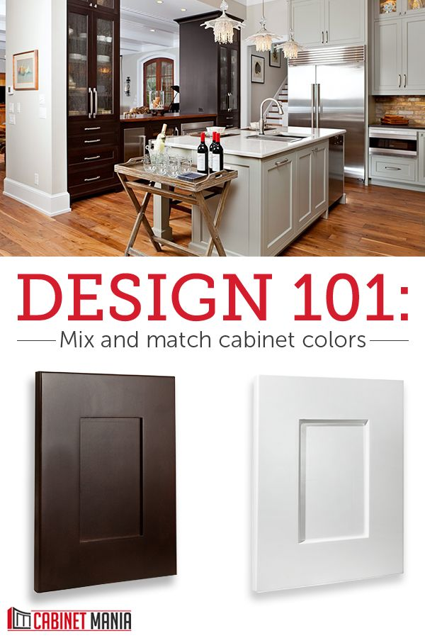 make a bold statement in your kitchen when you mix and match cabinet colors and styles get low. Black Bedroom Furniture Sets. Home Design Ideas