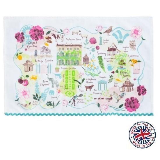 【Highgrove】 Garden Plan Tea Towel ハイグローブガーデン プランティータオル