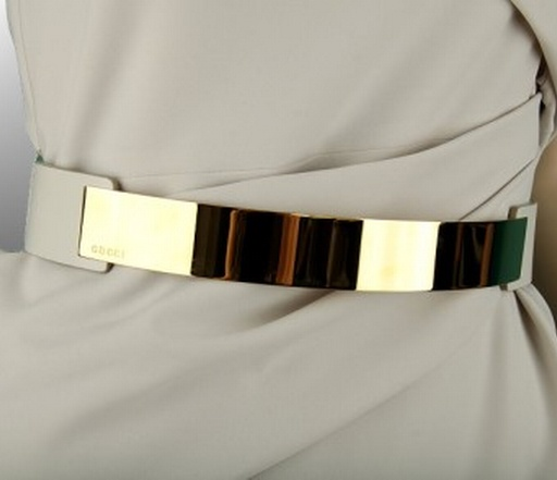 Gucci Gold Metal Belt •