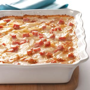 Scalloped Potatoes with Ham & Cheese Recipe= Ingredients 1 can (10-3/4 ounces)