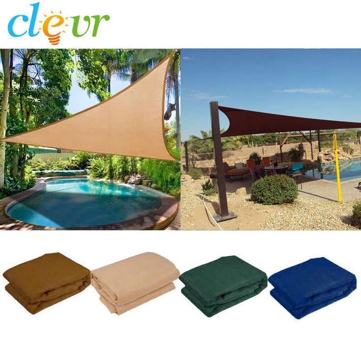 SHADE SAIL-New Premium Clevr Sun Shade Canopy Sail 12'/16.5'/18' Triangle UV Outdoor Patio #Clevr