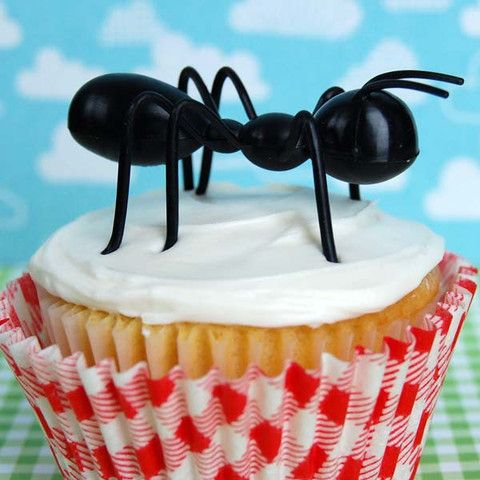 Ant Man Cake Design : Large Plastic Black Ants for topping your cupcakes and ...