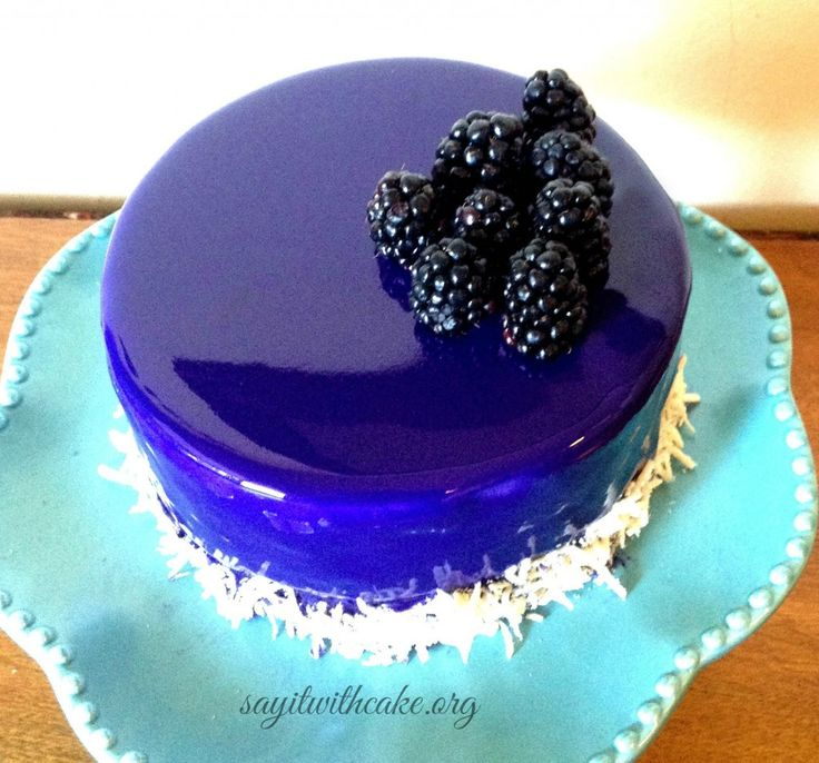 Blackberry Mousse Cake with Mirror Glaze