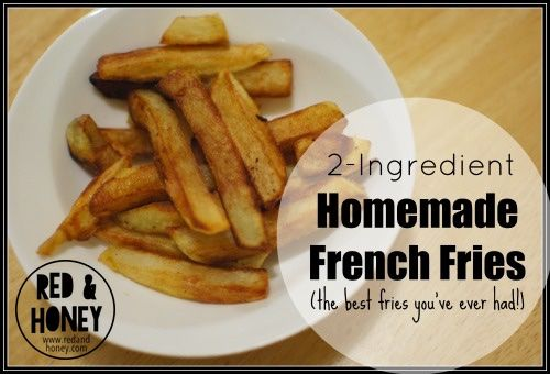 Homemade French Fries (Better than Fast-Food!) | These fries are incredibly simple, and they taste better than restaurant fries. Name your favourite fast-food french fry. These are better. I know, lofty goal for those of... | RedAndHoney.com