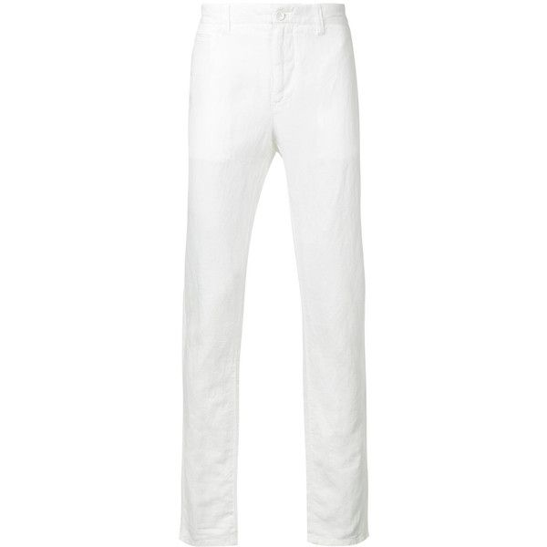 Cerruti 1881 chino trousers ($175) ❤ liked on Polyvore featuring men's fashion, men's clothing, men's pants, men's casual pants, white, mens chinos pants, mens chino pants, mens white pants and mens white chino pants