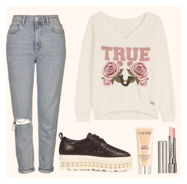 """"""""""" by apostaleksa on Polyvore featuring мода, Topshop, True Religion, Lancôme и By Terry"""