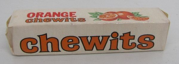 Appelsiini chewits-patukka 1960-luvulta tai 1970-luvun alusta.