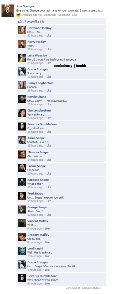 My my...Snape and Malfoy are quite popular.