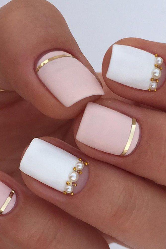 30 Perfect Pink And White Nails For Brides Wedding Forward Wedding Nail Art Design Bride Nails Elegant Nail Designs