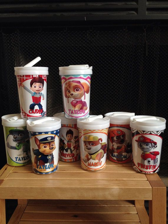 Paw Patrol Personalized Childs Tumbler Cup W Everlasting Straw On Etsy 899