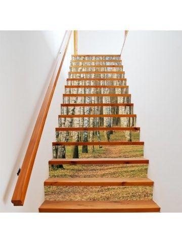 birch forst style 13 pieces stair sticker wall decor | dundonald