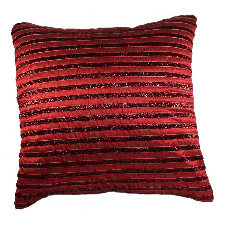 Get ready to transform the look of your living room or bed room by picking this Maroon colored Silk Cushion Cover. The shimmery stripes pattern adds an extra elegance to this cushion cover. FEATURES : 16 Inch * 16 Inch / 40.5 cm *  40.5 cm