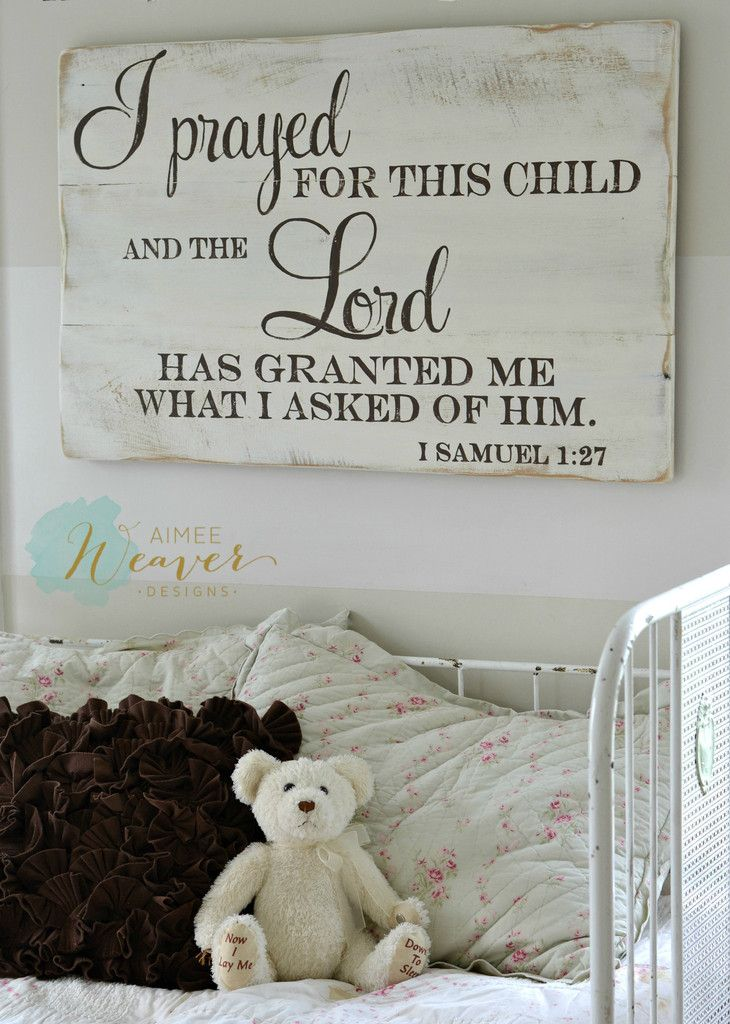 """""""I prayed for this child"""" Wood Sign {customizable}"""