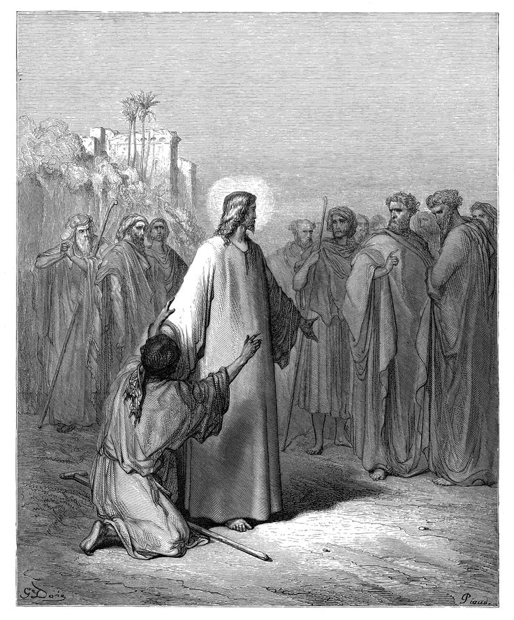13. Jesus Healing the Man Possessed with a Devil (Gustave Doré)