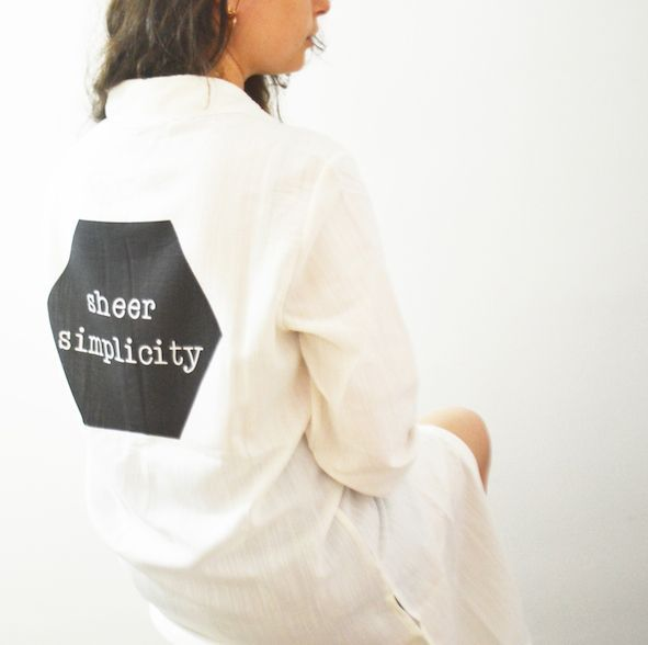 Sheer Simplicity Keten Gömlek Zet.com'da 180 TL