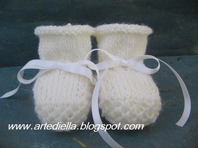 Scarpine Detske Backurky Knitted Booties Baby Booties Knitting