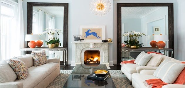 Decorating Small Living Room with Mirrors