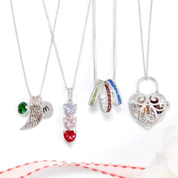 105 best birthstone jewelry images on pinterest birthstone birthstone necklaces are a great way to keep you family and loved ones close to your aloadofball Images