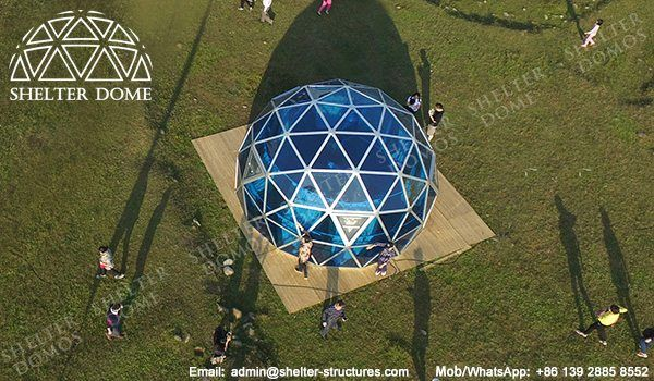 Polycarbonate greenhouse dome for sale - PC dome homes - Polycarbonate roof domes - Geodome greenhouse - Small dome greenhouse - Geodesic greenhouse for sale - Shelter Dome (1)