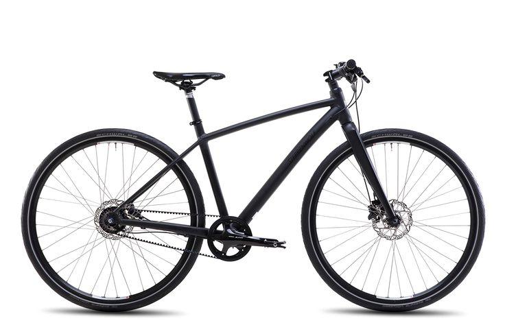 Steppenwolf Men's Haller Cross 8.5 CDX Commuter Bicycle, 700c wheels, 20 inch frame, Men's Bike, Shadow Matte Black, 99% assembled