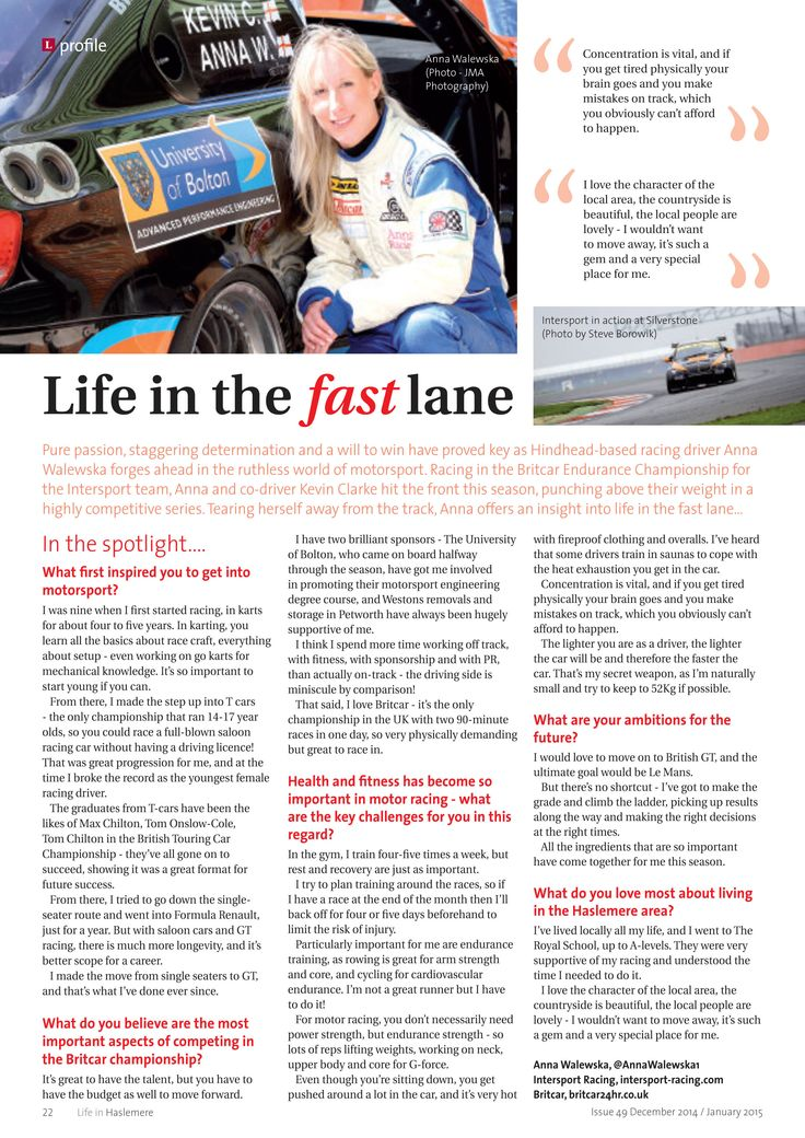 Life in the fast lane ~ Britcar champ Anna Walewska in the spotlight #locallife #motorsport #britcar #Hindhead #Surrey