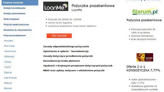 LOANME POŻYCZKA POZABANKOWA http://krystynag70.produktyfinansowe.pl/loanme/loanme.html
