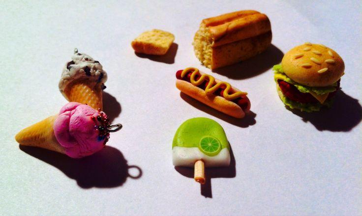 Miniature handmade FIMO food
