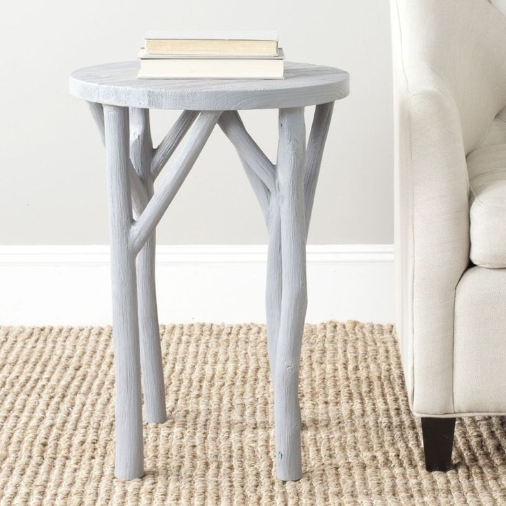 Safavieh Harper Pearl Blue Grey Round End Table   Overstock™ Shopping    Great Deals On Safavieh Coffee, Sofa U0026 End Tables