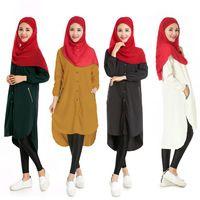 Hot new Islam long shirt solid elastic Muslim women's fashion dress vestidos sukienka falda kleid jurk wholesale