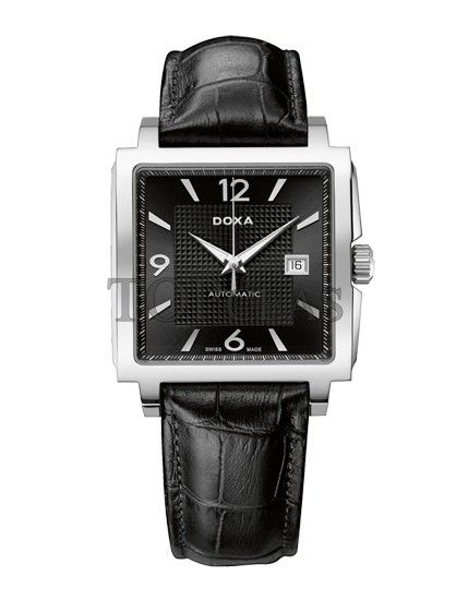 Ceasul Doxa Quadro Steel Black