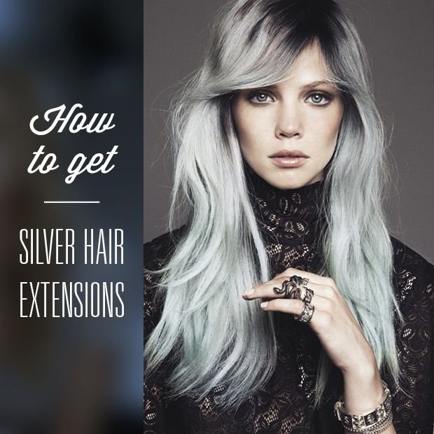 25 trending silver hair extensions ideas on pinterest can grey rocking silver tresses and cant find clip ins to match heres our super quick and easy guide on how to get silver hair extensions pmusecretfo Image collections