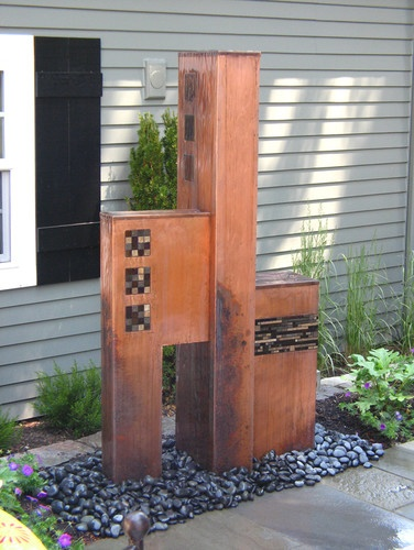 Tricubic - eclectic - outdoor fountains - portland - Aztec Artistic Productions
