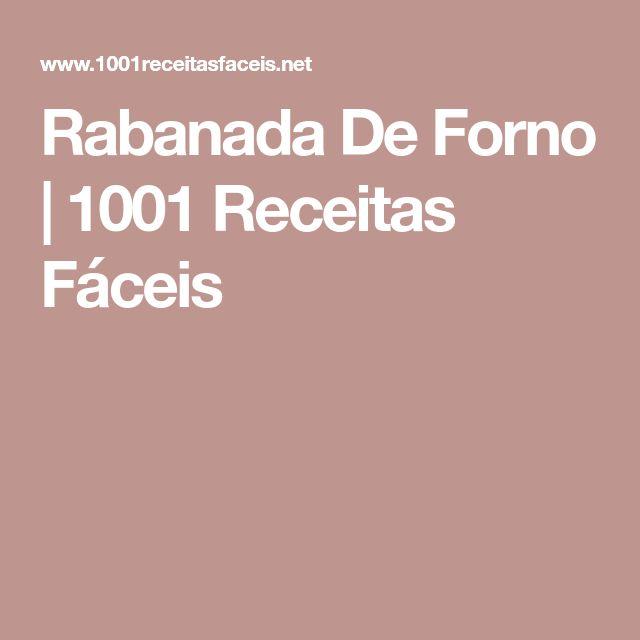 Rabanada De Forno | 1001 Receitas Fáceis