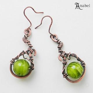 "Серьги ""Зеленый виноград"" / Earrings ""Green grapes"""